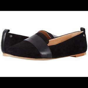 Ugh Black Suede Jonette Flat Size 9